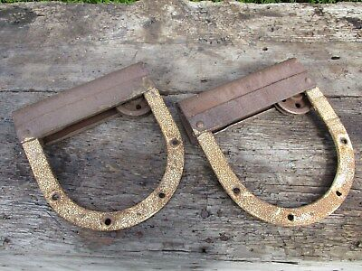 Antique Barn Door Rollers - Horseshoe Rollers Working Condition - Old Maine Barn