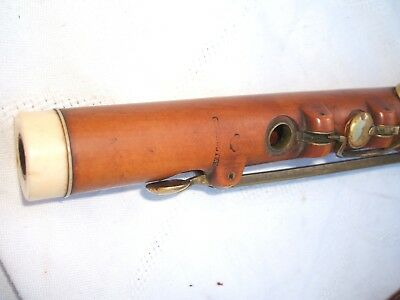 Antique German Flute Biedermeier Boxtree Buchsbaum Querflöte  Flauto Traverso