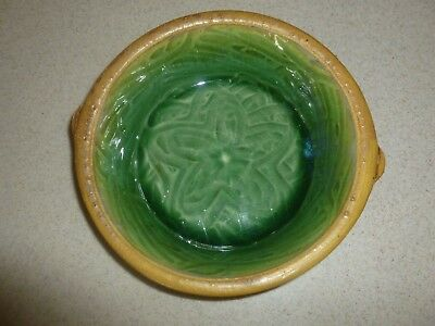 Vintage A. Ditt Signed Fire Glazed Pottery Bowl Platter Plate Stoneware Clay