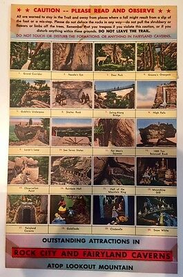 ROCK CITY AND FAIRYLAND CAVERNS...TENNESSEE..POST CARD...7  x  11 INCHES...VINT