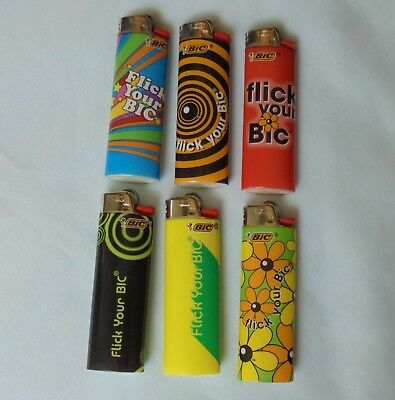 Flick Your Bic Bic Disposable Cigarette Lighters Special Edition Design 30 Years
