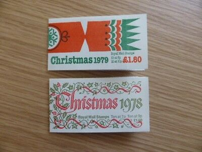 1978&1979 GB Christmas Stamp Booklets