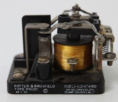 Potter Brumfield Type PRIIDY Coil Electromechanical Relay 1HP 1PH 25A 120/240V