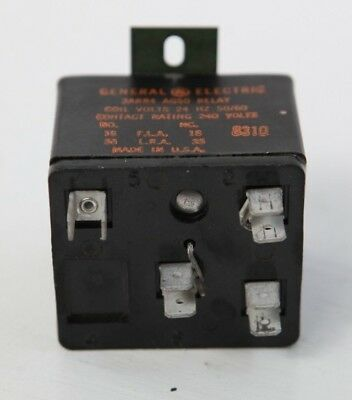 General Electric GE 3ARR4 AG50 4 Terminal 24V Coil Relay Contact Rating 240V