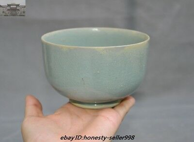 antique Chinese Dynasty Longquan kiln Old Porcelain glaze Bowl Cup Bowls Statue