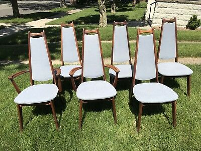 Mid Century bent wood dining room chairs By Adrian Pearsall set of 6
