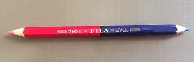 Ancien/vintage Crayon Couleur Double Fila / Old Colouring Pencil Made In Italy