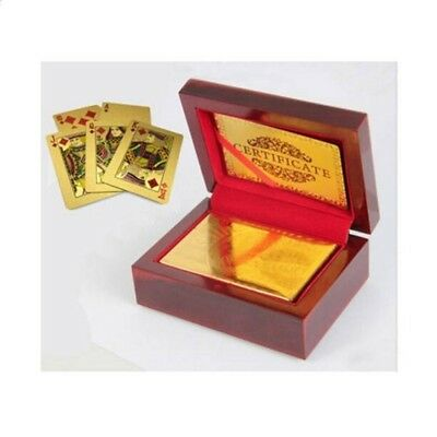 Golden Playing Cards Waterproof Cards Magic 24K Gold Plastic Foil Poker