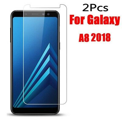2Pcs 9H Tempered Glass Screen Protector Film Cover For Samsung Galaxy A8 (2018)