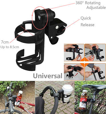 Universal 360° Rotating Stroller Drink Bottle Cup Holder Pram Pushchair Bike UK