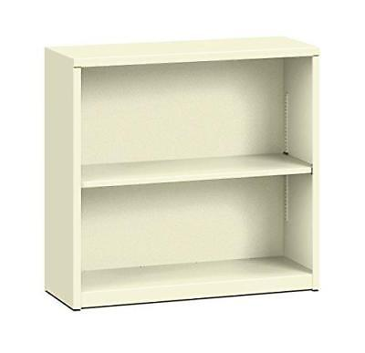 HON Brigade Metal Bookcase - Bookcase with Two Shelves, 34-1/2w x 12-5/8d