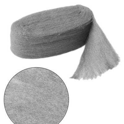 Steel Wire Wool Grade 0-0000 For Polishing Rush Cleaning Remover Gray UK Stock