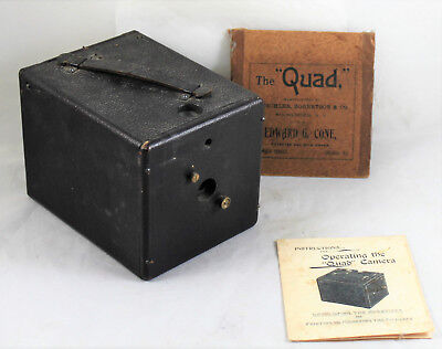 Antique Quad Magazine Camera by Edward Cone, Chicago & Mutschler, Robertson & Co