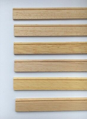6 Lengths Of Quality Wood Skirting Board  430mm by 15mm, Dolls House Miniature
