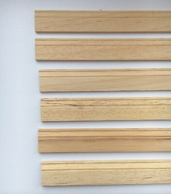 6 Lengths Of Quality Wood Skirting Board  430mm by 20mm, Doll House Miniatures