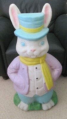"""Vintage 35"""" EMPIRE MR BUNNY RABBIT EASTER Blow Mold Light Up Old Lawn Yard Decor"""