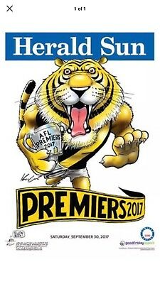2017 Afl Limited Edition Premiership Poster Richmond Tigers Mark Knight