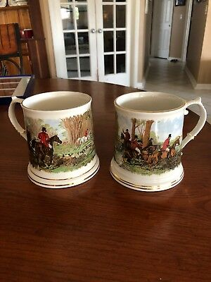 Crown Dorset Hunt Pattern (Staffordshire, England) Mugs/Steins