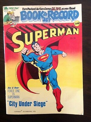 Superman Book & Record Set City Under Siege