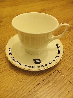 The Good The Bad and The Queen - China tea cup & saucer - Damon Blur Gorillaz