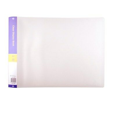 A3 Display Book Folder Art Diary 20 Pockets Landscape Short Edge Clear Folio NEW