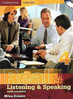 Cambridge REAL LISTENING & SPEAKING 4 English Skills with Answers +AUDIO CDs New