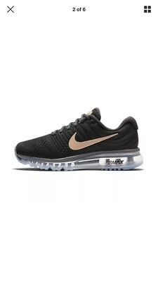 Nike Womens Air Max 2017 Blk/rose Gold Size 4