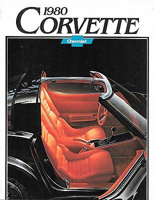 1980 Chevrolet Corvette Dealers Brochure  (Yellow Poster On Reverse Side)
