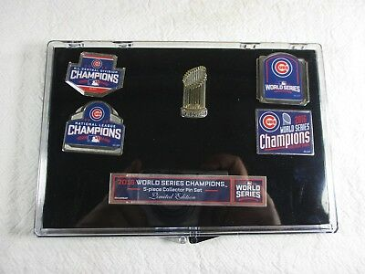 562fc0b4808 Chicago Cubs 2016 MLB World Series 5 Piece Limited Edition Collector Pin Set