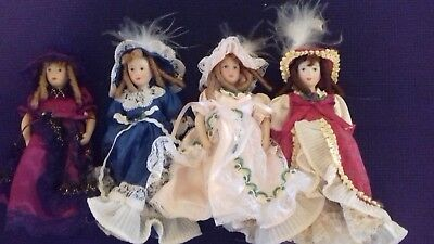 4 dollshouse dolls.1/12th scale.boxed.