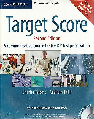 Cambridge TARGET SCORE 2nd Ed Student'S Book TOEIC PREPARATION w Test Pack @NEW