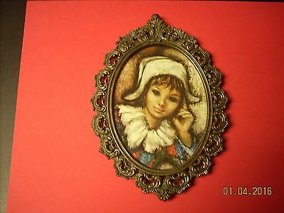 Antique Victorian Ornate Metal Picture Frame~ By Action Cheswick~  ITALY ~ NR