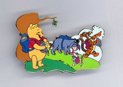 Disney Auctions Summer Series Pooh Tigger Eeyore Piglet Hike Hiking LE 100 Pin