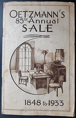 Vintage Oetzmann's Furniture Catalogue, 1933 Full of Lovely Art Deco Style.