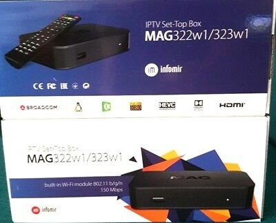 GENUINE MAG 322W1Streamer IPTV SetTop Box Built-In WiFi 12 MONTHS PLUG & PLAY