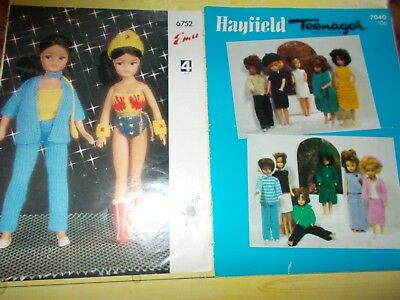 Vintage Original Sindy Knitting Patterns From 1960s70s In Nice