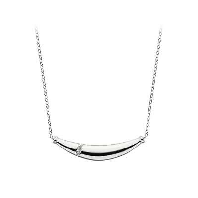 HOT DIAMONDS - NEW - Belle Silver Necklace and Diamond Pendant - Retaill £99