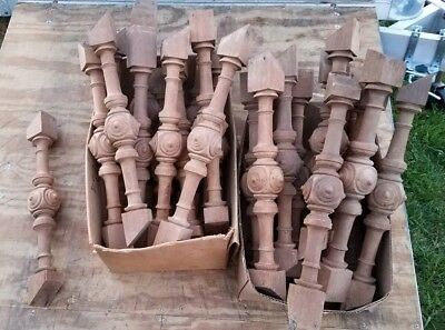 25 Wood Stair Stairway/Porch Rail Railing Baluster Architectural Salvage Spindle