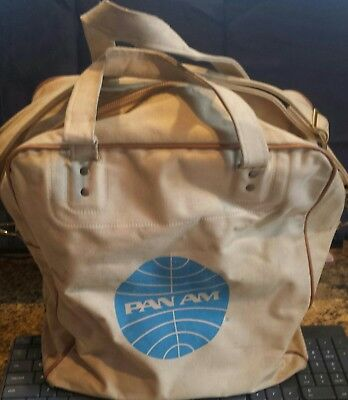Reduced$$ ~ Vintage Pan Am Canvas Tote Bag. From A Time When Travel Was Exciting