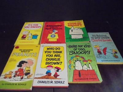 Lot of 7 Vintage Charlie Brown Peanuts Snoopy Charles M. Schulz Comic Books VGC!