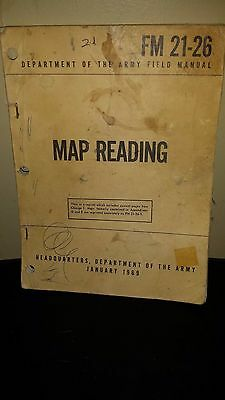 FM 21-26 DOA Field Manual : MAP READING January 1969