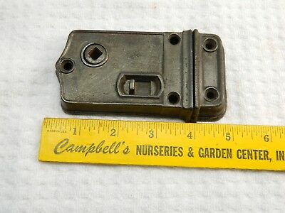 Antique Cast Iron Door  Surface Mount Box Latch Lock Hardware Old Vintage