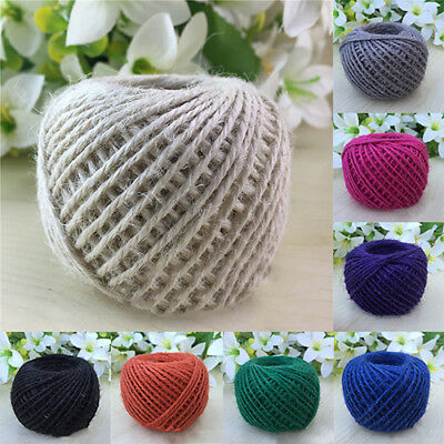 50M 2MM Jute Hemp Rope Roll Twine String Cord Craft DIY Scrapbooking Making Eyef