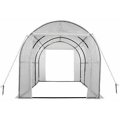 Ogrow 2-Door Walk-in Tunnel Greenhouse with Ventilation Windows OG17778-PEW -NEW