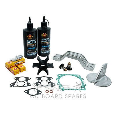 Yamaha Annual Service Kit with Anodes & Oils for 130, 140hp V4 2 Stroke Outboard