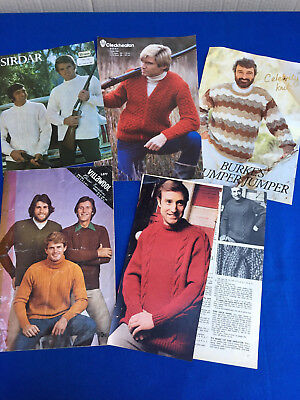 Vintage Collection of Mens KNITTING PATTERNS