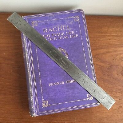 "Vintage RABONE CHESTERMAN Steel No:29 12"" Inch RULER Old Antique Hand Tool #60"