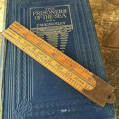 Vintage RABONE No:1375 English Boxwood RULER 24in 2ft Old Antique Hand Tools #71