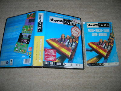 THEME PARK - Rare Mega Drive box / case / Instructions