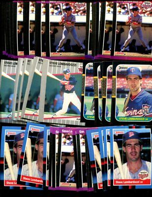Steve Lombardozzi Bulk Lot Of 100 Baseball Cards Twins Only Malden Massachusetts